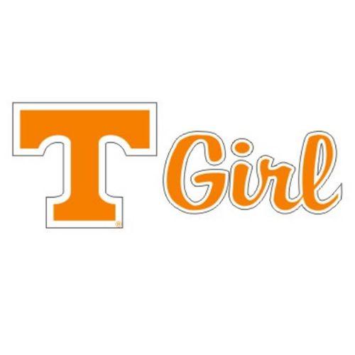 """Tennessee Volunteers """"T"""" Girl Decal (Orange)"""