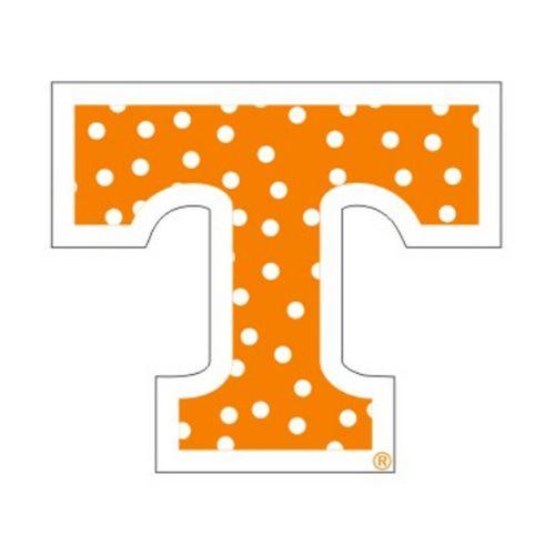 """Tennessee Volunteers Polka Dot Power """"T' 3"""" Decal (Orange)"""