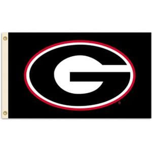 Georgia Bulldogs Logo Flag (Black)