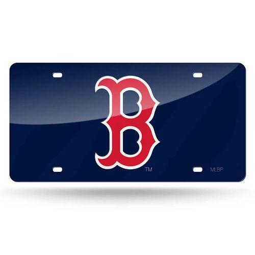 "Boston Red Sox ""B"" Laser-Cut Acrylic License Plate (Navy)"