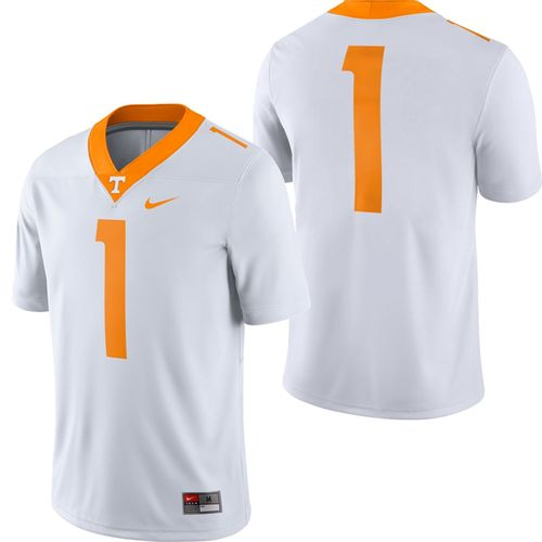 Men's Nike Tennessee Volunteers Dri-FIT Game Road #1 Road Jersey (White)