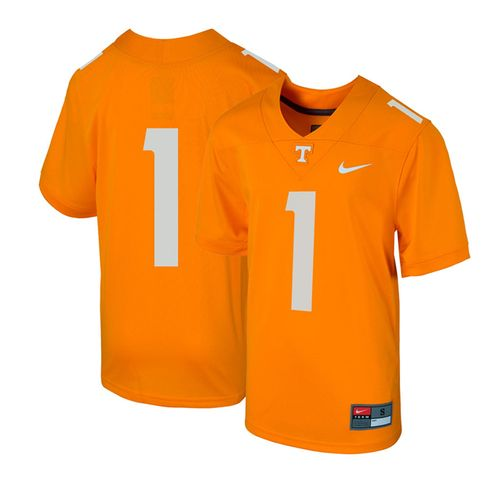Kid's Nike Tennessee Volunteers #1 Football Replica Jersey (Orange)