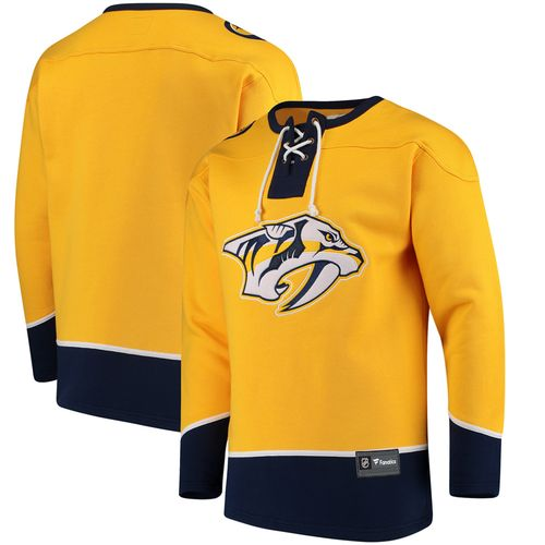Men's Fanatics Nashville Predators Franchise Lace Up Shirt (Gold)