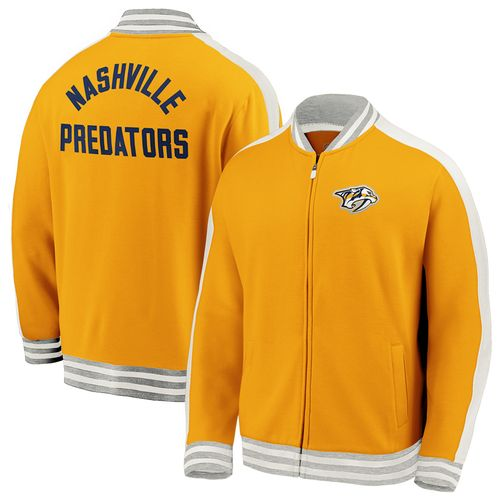 Men's Fanatics Nashville Predators Vintage Varsity Jacket (Gold)