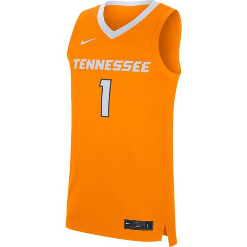 Men's Nike Tennessee Volunteers #1 Basketball Jersey (Orange/White)
