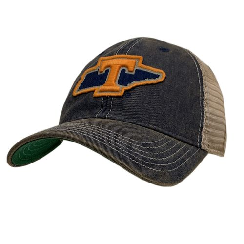 Legacy Tennessee Volunteers Tennessee State Outline T Adjustable Hat (Navy)