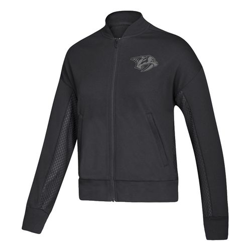 Women's Adidas Nashville Predators Mesh Bomb Jacket (Black)