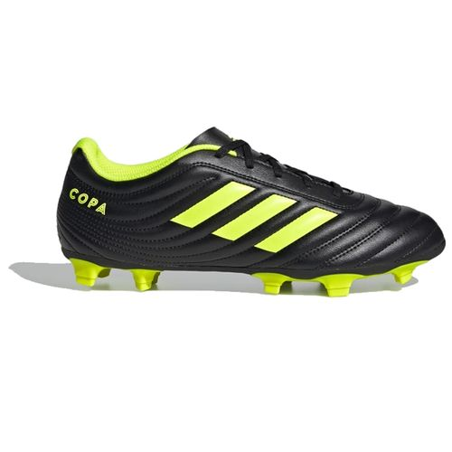 Men's Adidas Copa 19.4 Flexible Ground Soccer Cleats (Black/Yellow)