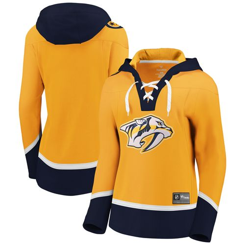 Women's Fanatics Nashville Predators Lace-up Hooded Fleece (Gold)