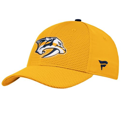 Fanatics Nashville Predators Authentic Pro Rinkside Stretch Flex Fit Hat (Gold)