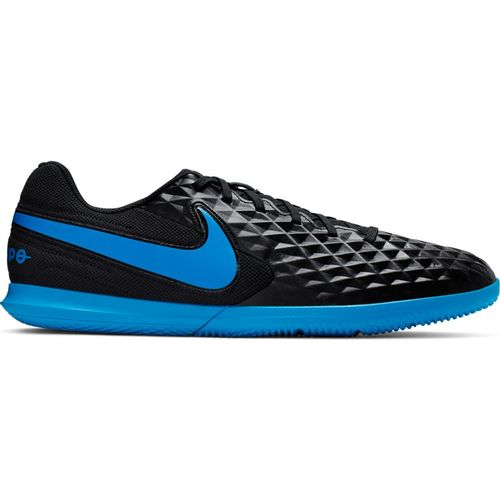 Men's Nike Tiempo Legend 8 Club Indoor Turf Soccer Shoe (Black/Blue)