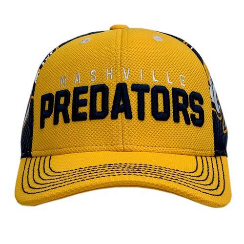 Youth Fanatics Nashville Predators Redline Structure Adjustable Hat (Navy/Gold)