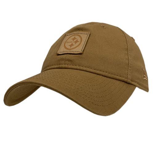 New Era Pittsburgh Steelers 920 Label Adjustable Hat (Tan)