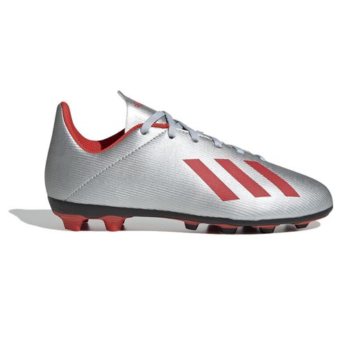 Pre School Adidas X 19.4 FG Soccer Cleats (Silver/Red)