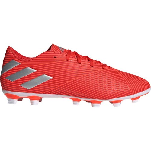 Men's Adidas Nemeziz 19.4 FXG Soccer Cleat (Red/Silver)