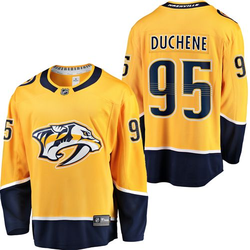 Men's Fanatics Nashville Predators Matt Duchene Home Breakaway Jersey (Gold)