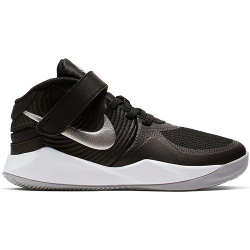 Pre School Nike Team Hustle D9 Flyease (Black/Silver)