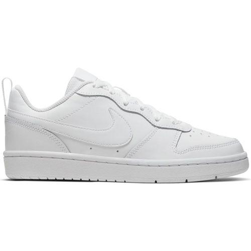 Grade School Nike Court Borough Low 2 (White/White)