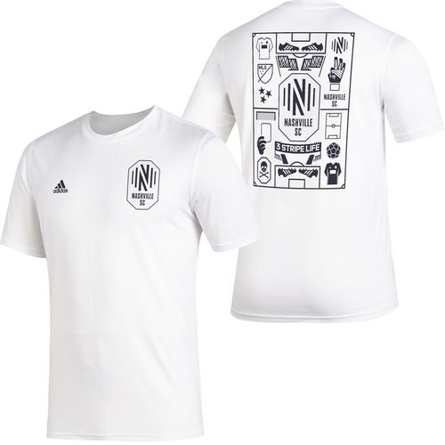 Men's Adidas Nashville Soccer Club Isn't It Iconic T-Shirt (White)