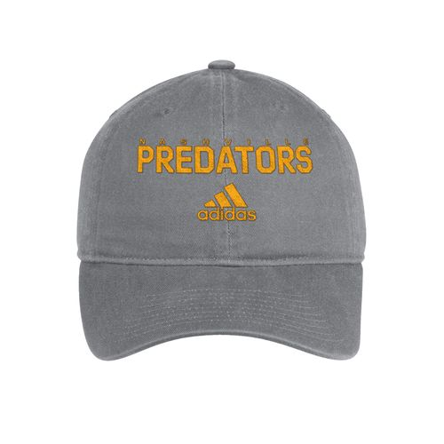 Adidas Nashville Predators Call Out Slouch Adjustable Hat (Grey/Gold)