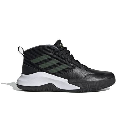 Pre School Adidas Own The Game Wide (Black/Yellow)