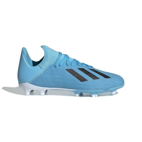 Grade School Adidas X 19.3 FG Soccer Cleat (Cyan/Black)