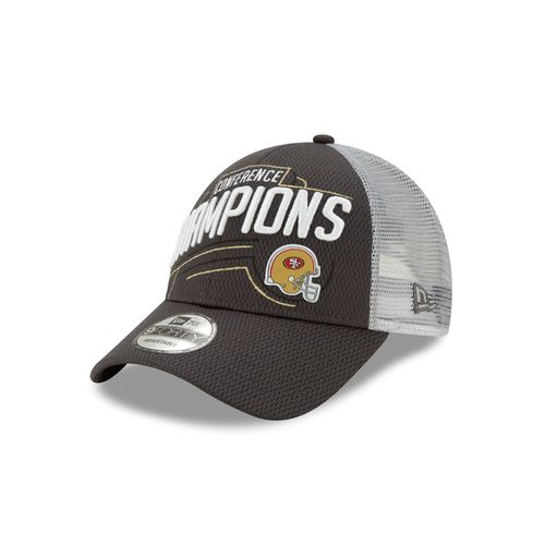 New Era San Francisco 49ers NFC Conference Champions Adjustable Hat (Black/Grey)