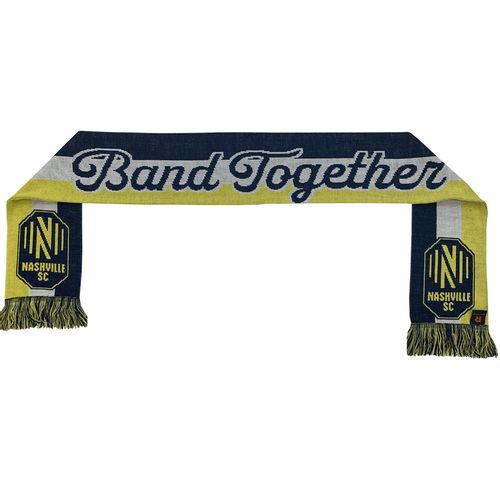 Nashville Soccer Club Script Design Scarf (Navy/Gold)