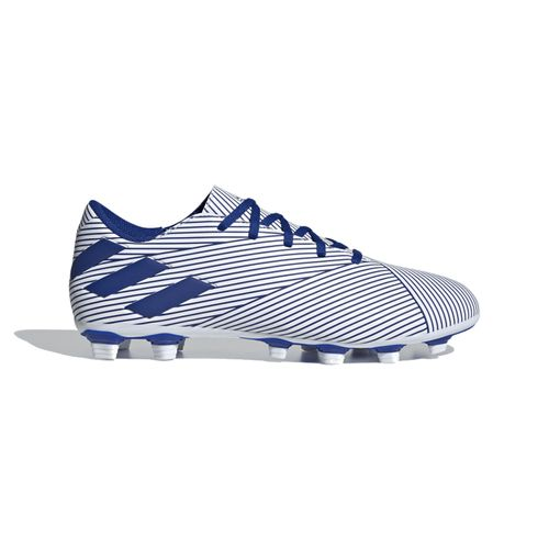 Men's Adidas Nemeziz 19.4 FXG Club Soccer Cleat (White/Royal)