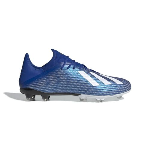 Men's Adidas X 19.2 FG Club Soccer Cleat (Royal/White)