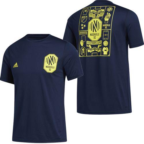 Men's Adidas Nashville Soccer Club Isn't It Iconic T-Shirt (Navy)