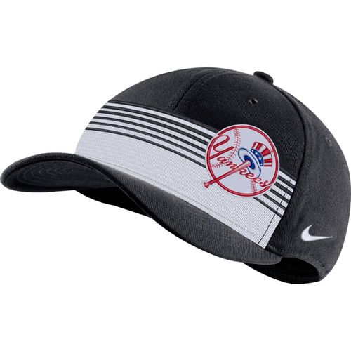 Nike New York Yankees Classic99 Stripe Hat (Pitch Blue)