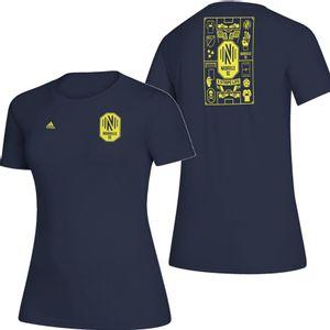 Women's Adidas Nashville Soccer Club Isn't It Iconic T-Shirt (Navy)