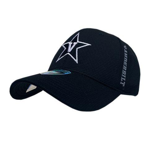 Vanderbilt Commodores Booster Tonal Flex-Fit Hat (Black)