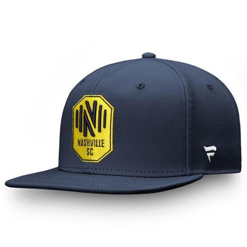 Fanatics Nashville Soccer Club Emblem Snapback Adjustable Hat (Navy)