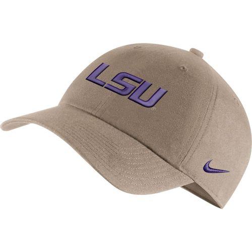 Nike LSU Tigers Heritage 86 Logo Adjustable Hat (Khaki)