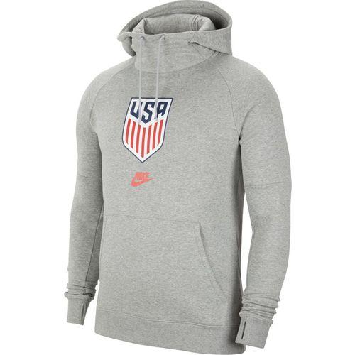 Men's Nike USA Hooded Fleece (Dark Grey/Red)