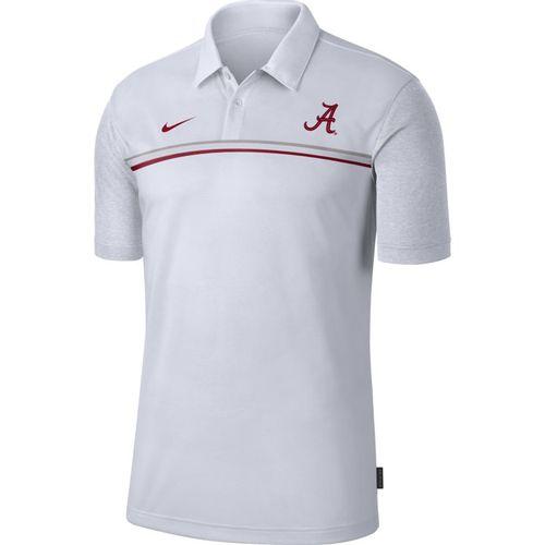 Men's Nike Alabama Crimson Tide Coaches 2 Polo (White/White)