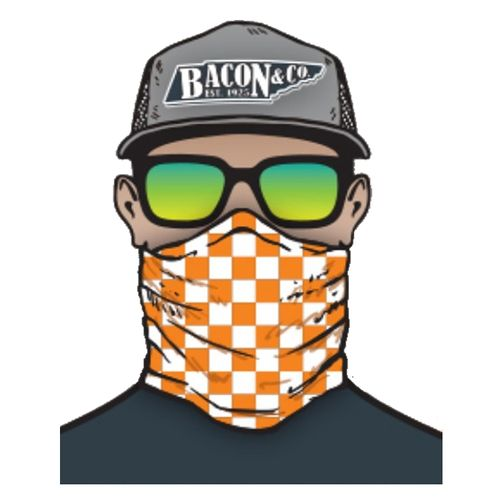 Tennessee Volunteers Checkerboard Neck Gaiter (Orange/White)