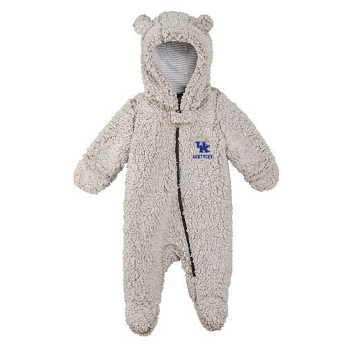 Newborn Kentucky Wildcats Game Nap Teddy Footed One-Piece (Sherpa)