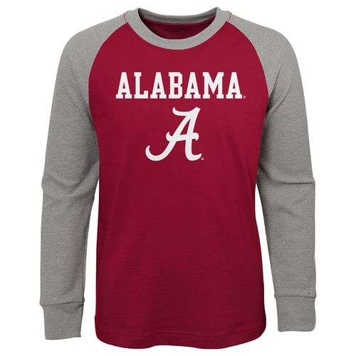 Youth Alabama Crimson Tide Thermal Waffle Long Sleeve Shirt (Crimson)