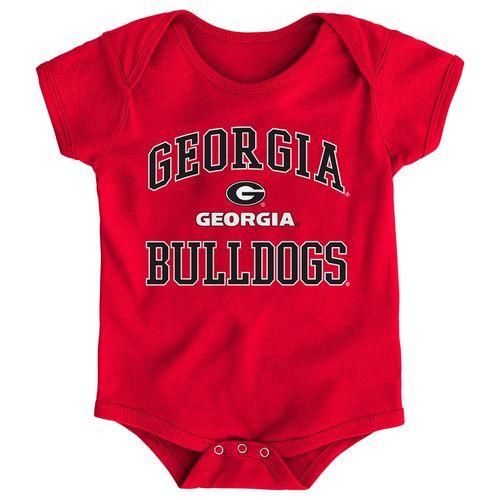 Newborn Georgia Bulldogs Primary Logo Onesie (Red)