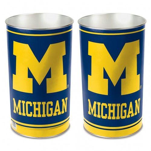 Michigan Wolverines Tapered Trashcan