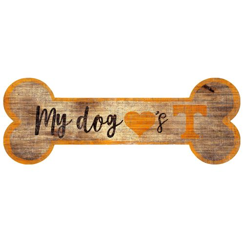 Tennessee Volunteers Dog Bone Wood Sign
