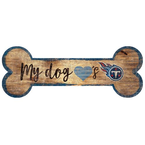 Tennessee Titans Dog Bone Wood Sign