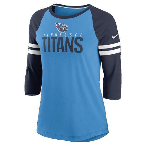 Women's Nike Tennessee Titans Stripe 3/4 Sleeve Shirt (Coast)