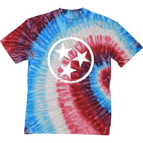 Men's Tri-Star Tie Dye T-Shirt (Fire Cracker)