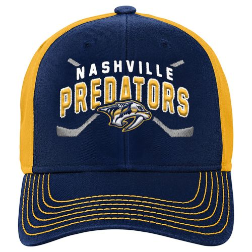 Youth Nashville Predators Faceoff Fitted Hat (Navy)