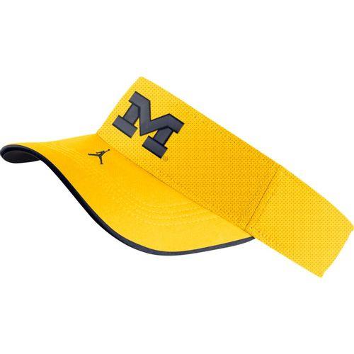 Nike Michigan Wolverines Aero Adjustable Visor (Gold/Navy)