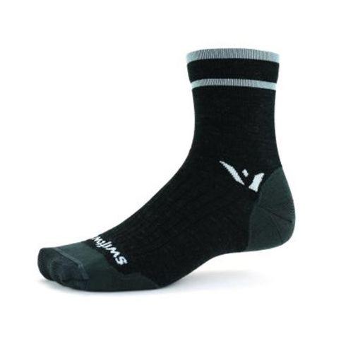 Swiftwick Pursuit Four Ultralight Short Crew Sock (Coal Grey)